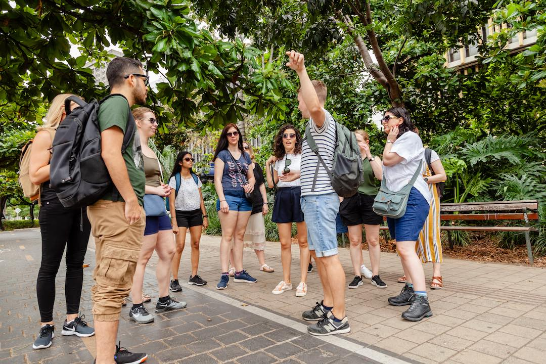 First time travelling alone walking tour