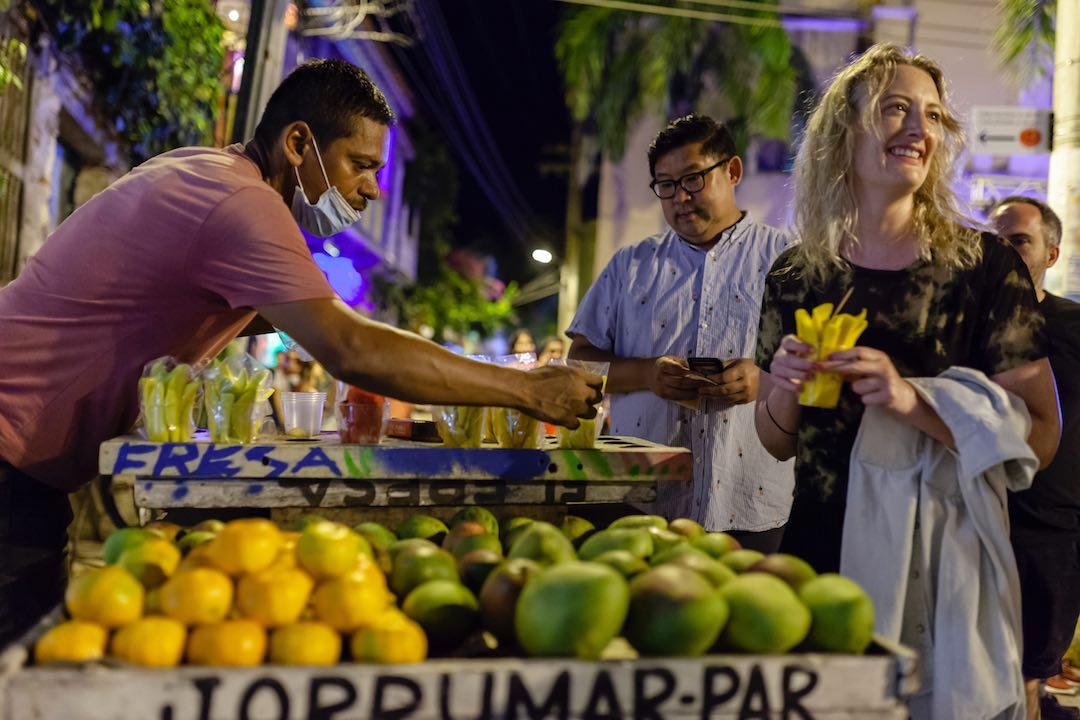 immersive travel eating street food